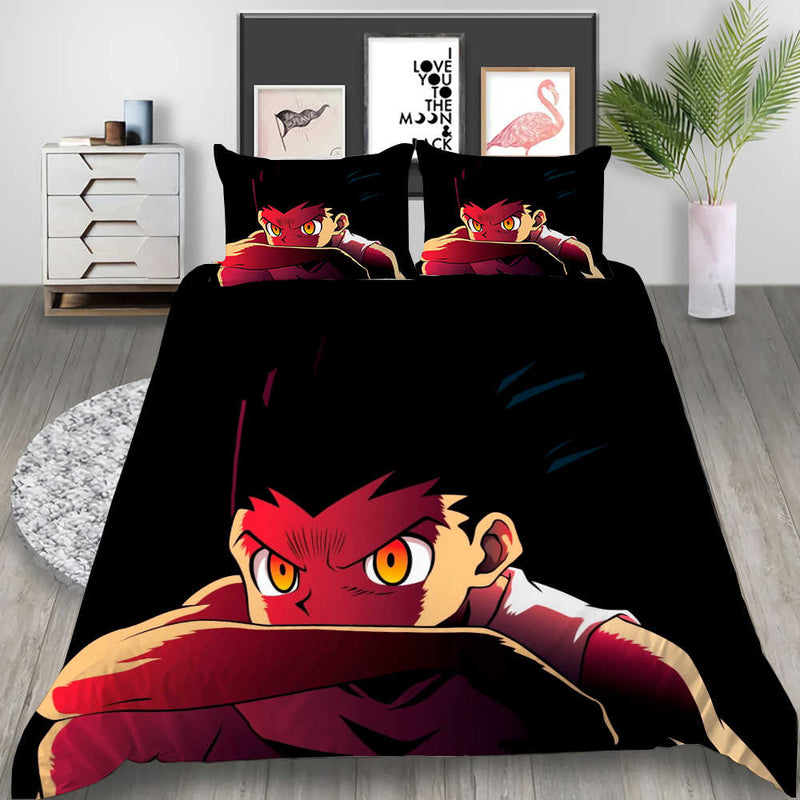 Full-time Hunter Duvet Cover Set Cartoon Bed Set Bedlinen Set for Kids Bedroom