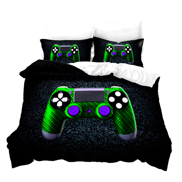 3d Customize PS4 PlayStation Gamepad Bed Set Comforter Set Duvet Cover Set-Gamepad Duvet Cover Set
