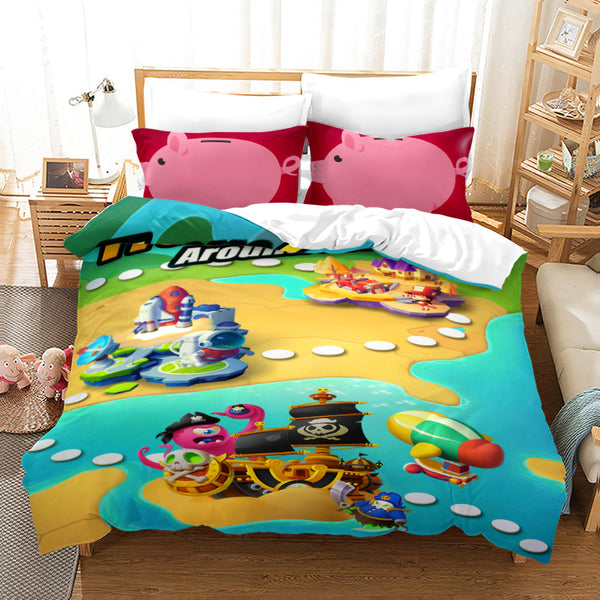 Cartoon Piggy Roblox Bed Linen 3d Customize Quilt Cover Comforter Sets Bedding Sets Duvet Cover Set-Piggy Roblox Duvet Cover Set