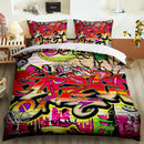 Hip-Hop Graffiti Bed Cover Set Child Duvet Cover Set Bedding Set Boy's Bedding Sets