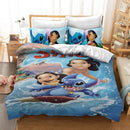 Stitch Duvet Cover Set Kids Bed Set Cartoon Comforter Set Bed Linen-Stitch Duvet Cover Set