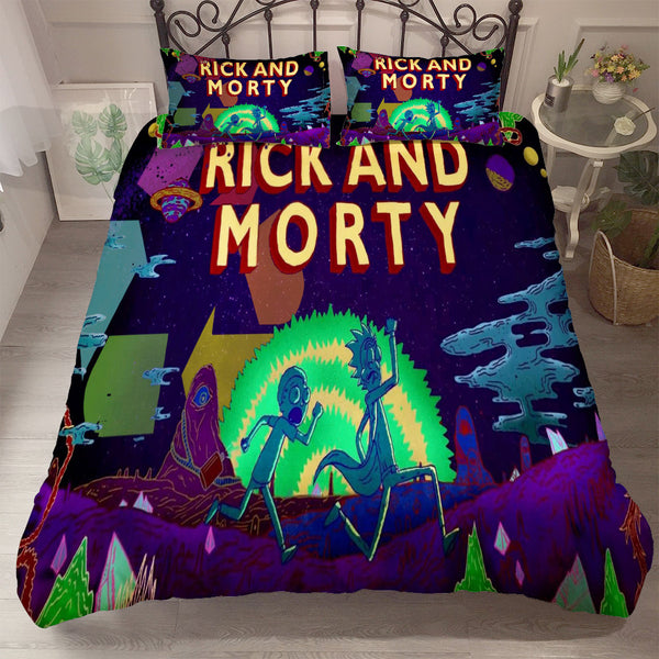 Rick and Morty Bedding Sets 3d Customize Quilt Cover Comforter SetsBed Linen Duvet Cover Set-Rick and Morty Duvet Cover Set