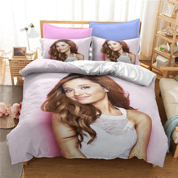 3d Customize Ariana Grande Comforter Set Duvet Cover Set Bed Set Bedroom-Ariana Grande Duvet Cover Set