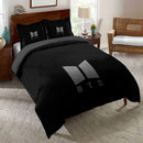 BTS Bantang Boys Bedding set Black Comforter Cover King Quilt Duvet Cover bedroom Sheet-BTS Bed set-simphouse