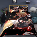 Demon Slayer Cartoon Bed Cover 3d Printed Duvet Cover Set Comforter Bed Linen-Demon Slayer Duvet Cover Set