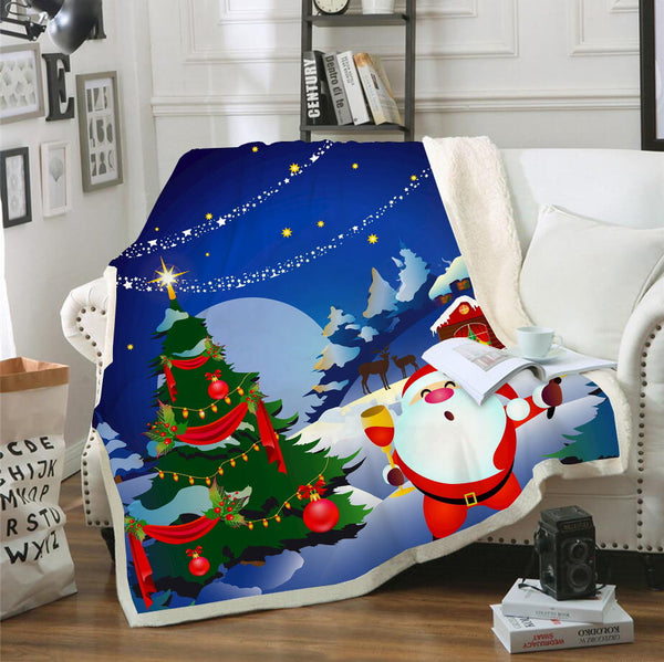 Santa Claus Christmas Blanket Bedroom Blanket Living Room Celebrate