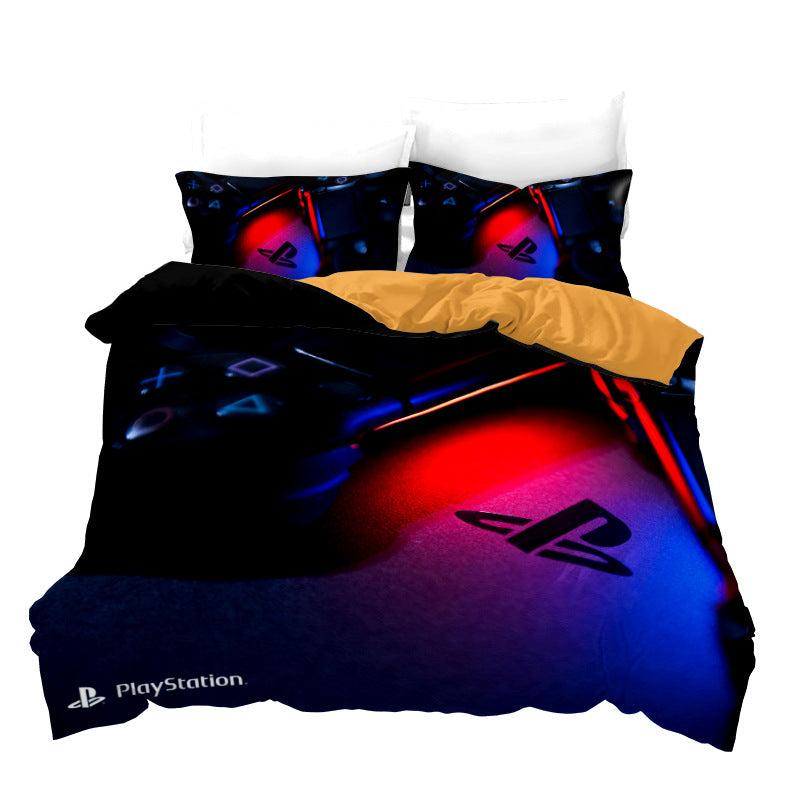 PlayStation Gamepad Printed Comforter Set 3d Customize PS4 Duvet Cover Set Bed Set-Gamepad Duvet Cover Set