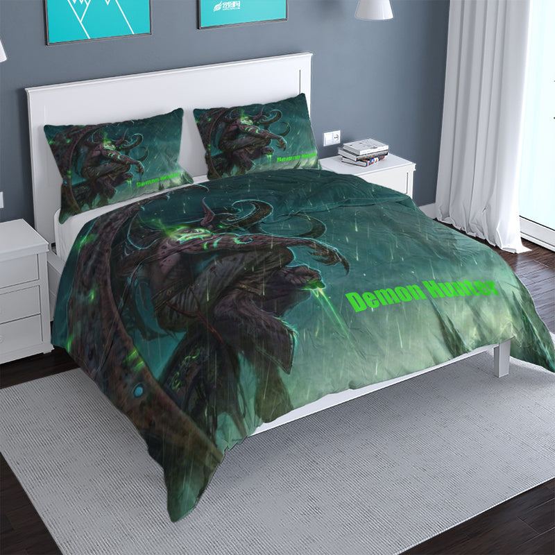 World of Warcraft Printed Duvet Cover Set 3d Customize Game Bed Linen Quilt Cover-World of Warcraft Printed Duvet Cover Set