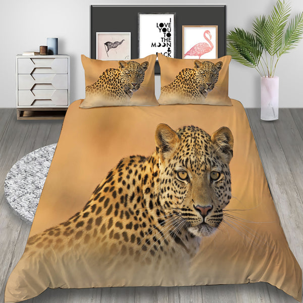 Tiger Bedding Animal Duvet Cover Set 3d Customized Bed Set Quilt Cover Bedroom
