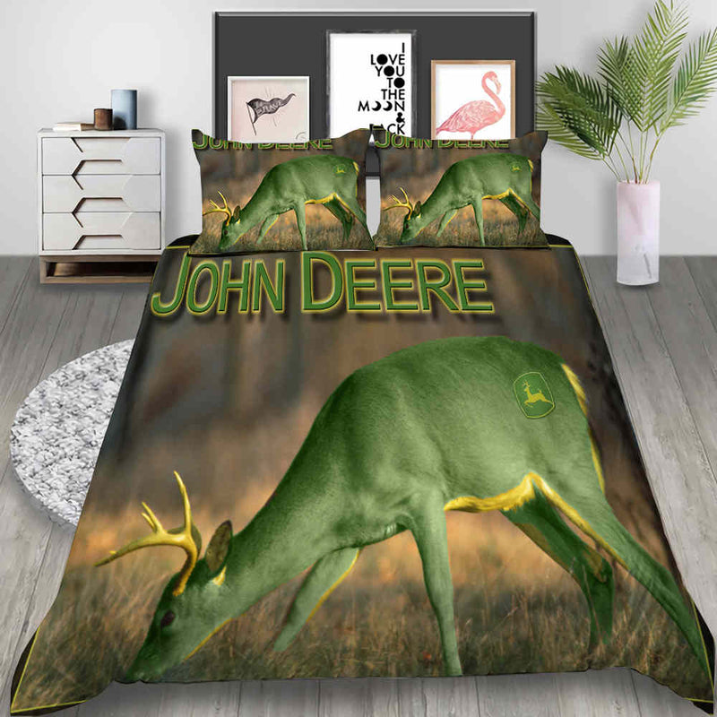 JOHN DEERE Bed Set Animal Comforter Set 3D Customized Duvet Cover Set
