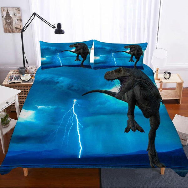 3d Customize Animal Comforter Set Dinosaur Printed Duvet Cover Set Kids Bedding Sets Bed Linen Quilt Cover-Dinosaur Printed Duvet Cover Set