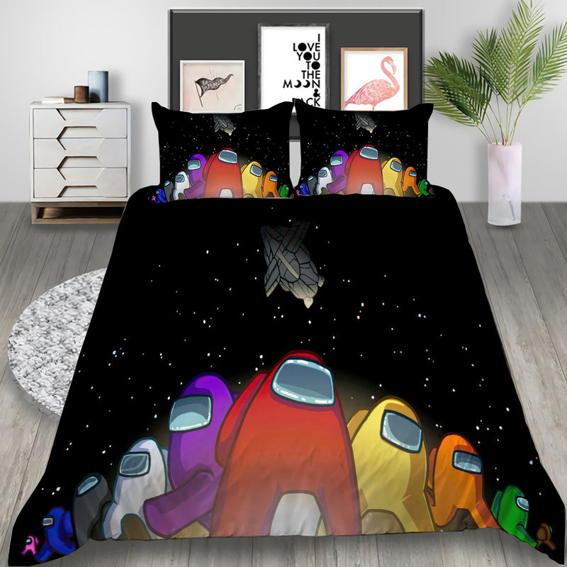 Among Us Duvet Cover Set Bedlinen Set Cartoon Bed Set for Kids Bedroom