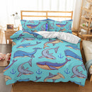 Shark Printed Duvet Cover Set Kids Bedding Sets Bed Linen Quilt Cover 3d Customize Bed Set-Shark Printed Duvet Cover Set