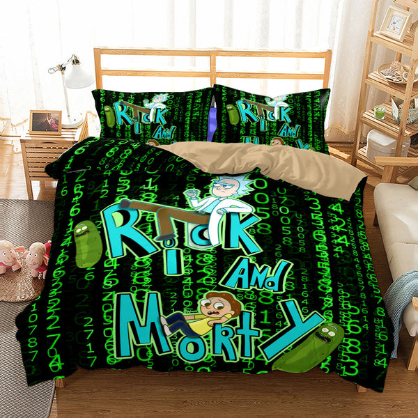 3d Customize Rick and Morty Bedding Sets Quilt Cover Bed Linen Duvet Cover Set Comforter Sets-Rick and Morty Duvet Cover Set