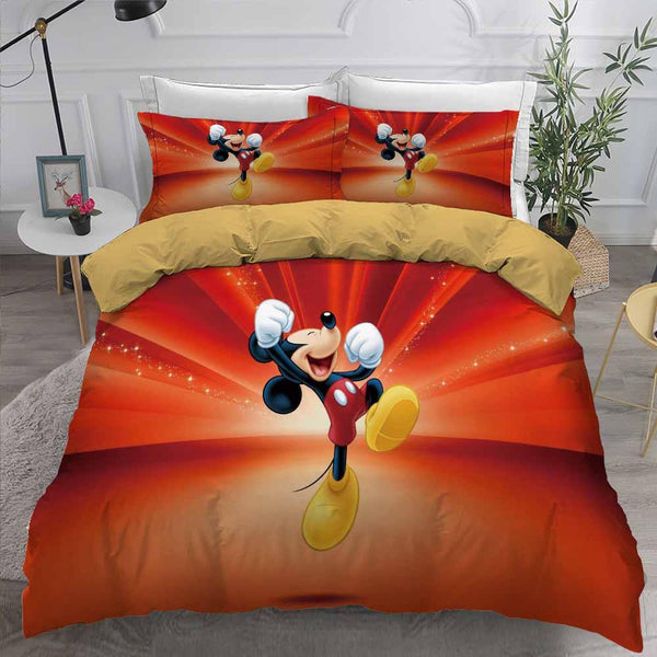 CartoonComforter Mickey Mouse Bedding Set 3D Customize Bed Set-Mickey Mouse Bed set-simphouse