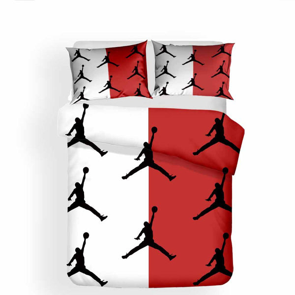 Air Jordan Bed Set 3D Customize Luxury Bedding Sets Quilt Cover Duvet Comforter Cover-Air Jordan Bed set-simphouse
