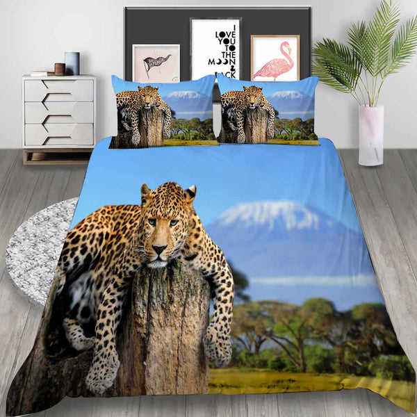 3d Customized Animal Bed Set Tiger Bedding Quilt Cover Bedroom