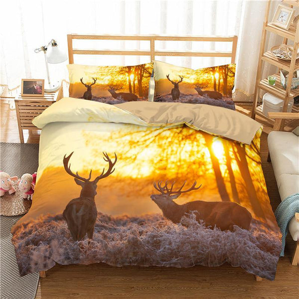 3D Animal Duvet Cover Deer Bedding Sets Duvet Cover Set Comforter Bedlinen Bedding Bed Set