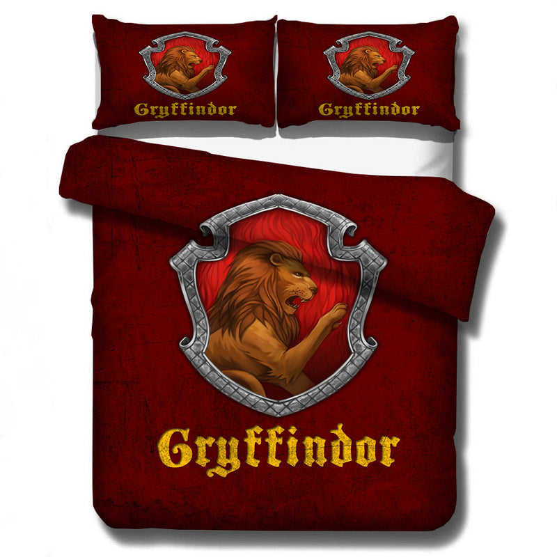 3pcs 3D Customize Cartoon Harry Potter King Bedding Bed Set-Harry Potter Bedding-simphouse