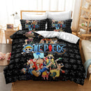 Popular Monkey D. Luffy Printed Bedding Set Anime ONE PIECE Cartoon 3d Bed Linen Children Duvet Cover Set