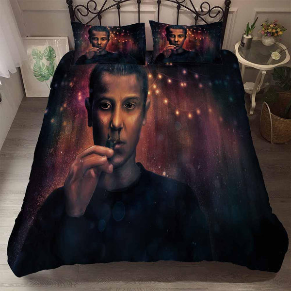 Stranger Things Bedding Set 3D Customize Comforter Cover Queen Quilt Duvet Cover-Stranger Things Bed set-simphouse