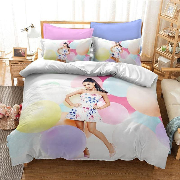 3d Customize Ariana Grande Duvet Cover Set Bed Set Bedroom Comforter Set-Ariana Grande Duvet Cover Set