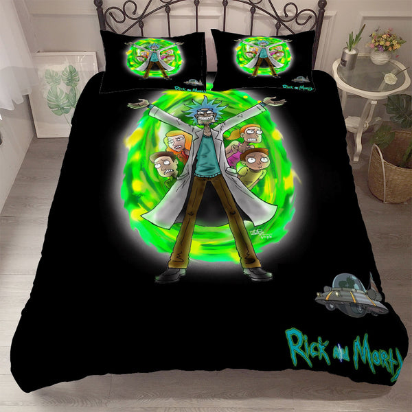 3d Customize Rick and Morty Duvet Cover Set Quilt Cover Bed Linen Comforter Sets-Rick and Morty Duvet Cover Set