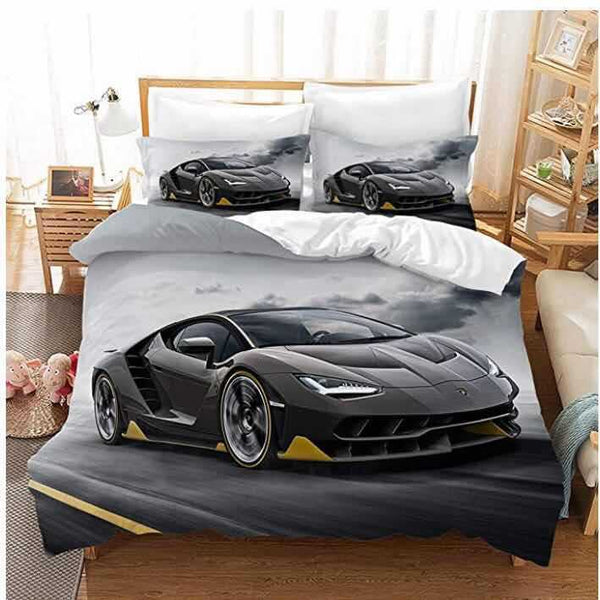 Luxury car bedline Sets Duvet Cover Set Comforter Bedding Set Girls Boys Children-Luxury car Duvet Cover Set