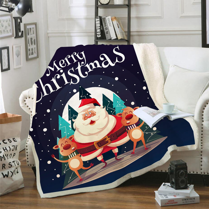 Santa Claus Christmas Blanket Bedroom Blanket Living Room Decor