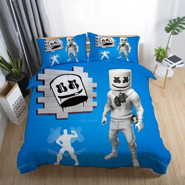 DJ Marshmello Bedding Sets Quilt Cover Duvet Comforter Cover Bedroom-DJ Marshmello Bed set-simphouse