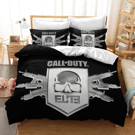 3d Customize Call of Duty Black Printed Comforter Set Duvet Cover Set Bed Set-Call of Duty Duvet Cover Set