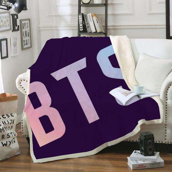Bedroom Decor BTS Bantang Boys Black Blanket Bedding Blanket for Livingroom