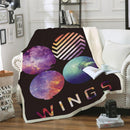 BTS Black Blanket Bedding Blanket for Bedroom