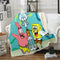 SpongeBob SquarePants Blanket Black Bedding Blanket Bedroom
