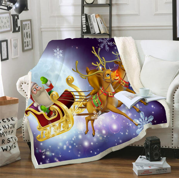 Santa Claus Blanket Christmas Blanket Bedroom Living Room Celebrate