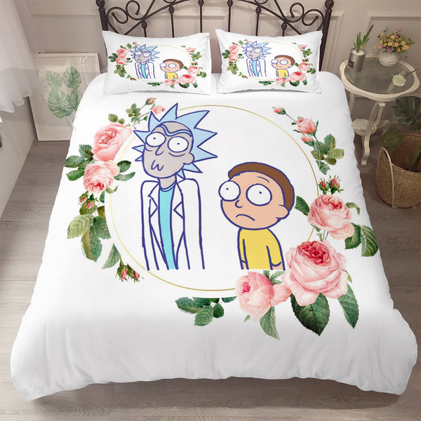 3d Customize Rick and Morty Bedding Sets Duvet Cover Set Quilt Cover Bed Linen Comforter Sets-Rick and Morty Duvet Cover Set