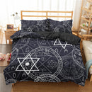 ZEIMON Alchemy Symbol Duvet Cover Set Bedding Sets Cartoon Bed Set Bed Linen
