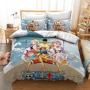 ONE PIECE Cartoon 3d Bed Linen Popular Monkey D. Luffy Printed Bedding Set AnimeChildren Duvet Cover Set