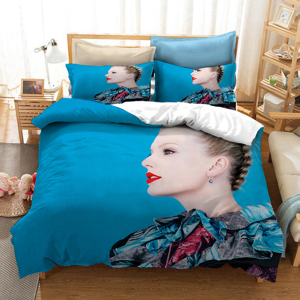 3D Customize Bedding Set Taylor Swift Bed Set Duvet Cover Setcomforter Set-Taylor swift Bed set-simphouse