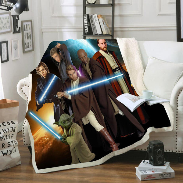 3D Customized Star Wars Blanket Bedding Marvel Blanket