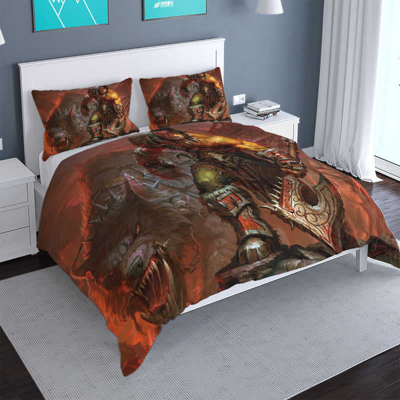 World of Warcraft Printed Duvet Cover Set 3d Customize Game Bed Linen Quilt Cover Kids Bedding Sets-World of Warcraft Printed Duvet Cover Set