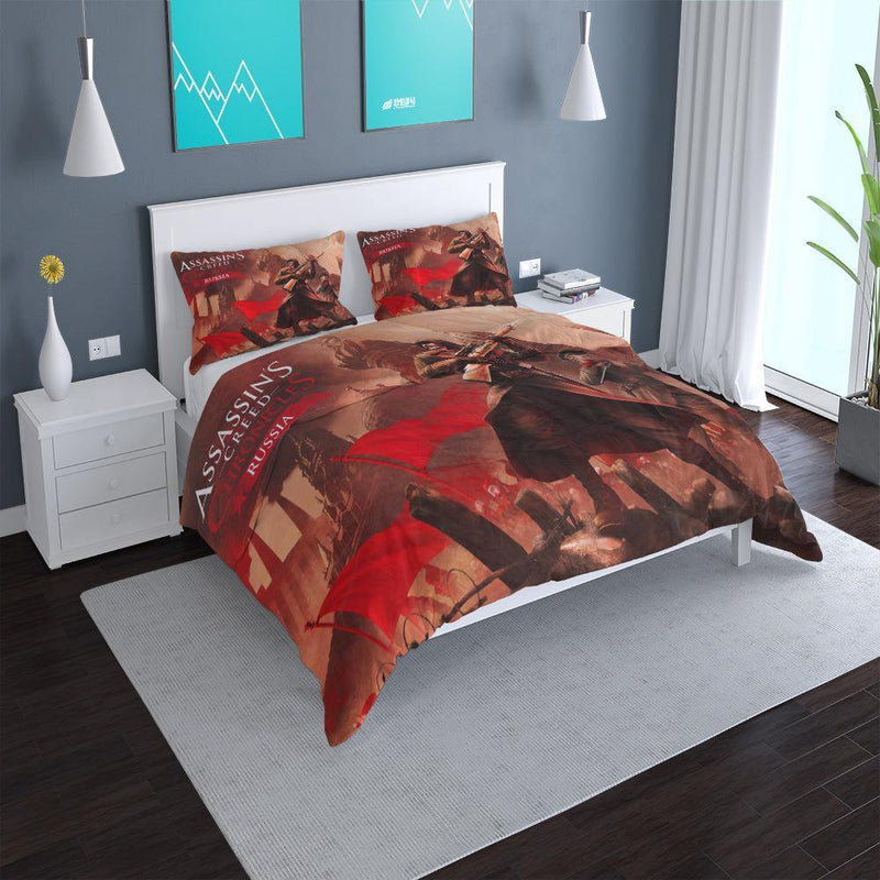 3d Customize Assassin's Creed Bed Set Duvet Cover Set Man Bedroom Comforter Set-Assassin's Creed Duvet Cover Set