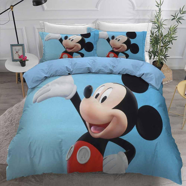 Cartoon Comforter Mickey Mouse Bedding Set 3D Customize Bed Set-Mickey Mouse Bed set-simphouse