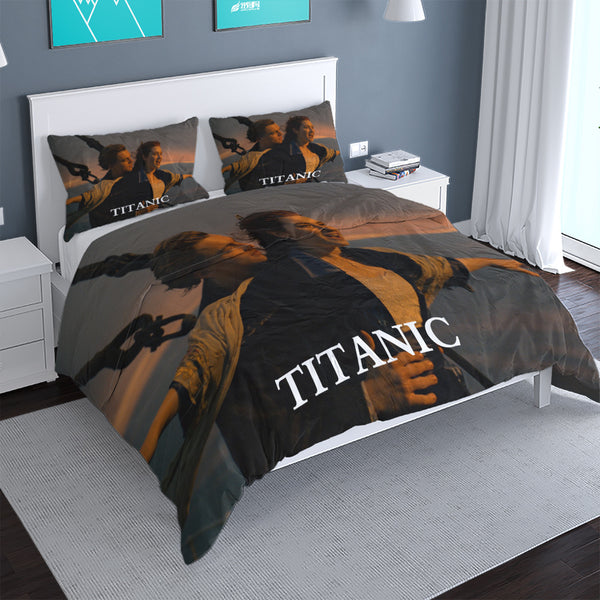 TITANIC Bed Cover 3d Customize Printed Comforter Duvet Cover Set Boys Girls Bed Linen-Demon Slayer Duvet Cover Set