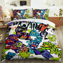 Hip-Hop Graffiti 3D Child Bedding Set Duvet Cover Set Bed Cover Set Boy's Bedding Sets