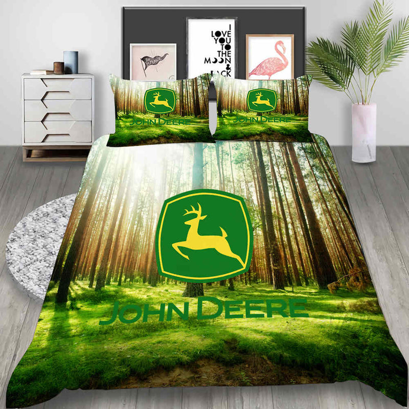 JOHN DEERE Bed Set Animal Duvet Cover Set 3d Customized