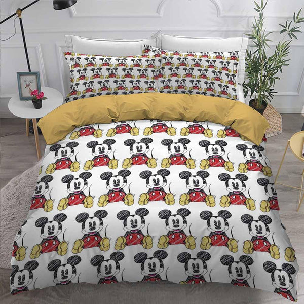 Cartoon Comforter Mickey Mouse Bedding Set 3D Customize Bed Set-Stranger Things Bed set-simphouse