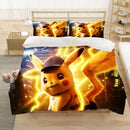 Pikachu Bedding Sets Pokemon Quilt Cover Bed Set Duvet Cover Set Bed Linen-Pikachu Duvet Cover Set
