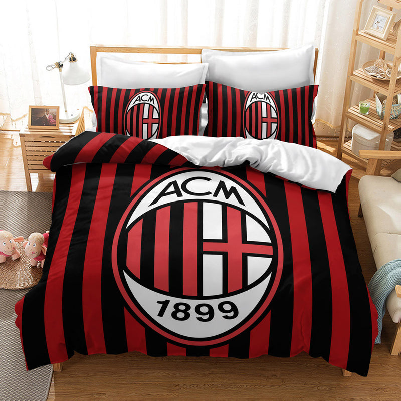 Football Team Bed Set Duvet Cover Set Bedding Sets Bed Linen Quilt Cover-Football Team Duvet Cover Set
