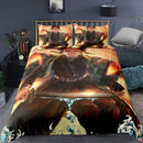 Cartoon Demon Slayer Bed Cover Duvet Cover Set 3d Printed Comforter Bed Linen-Demon Slayer Duvet Cover Set